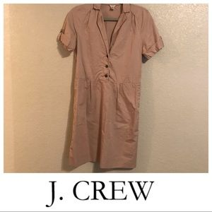 J. Crew Fitted Pink Dress